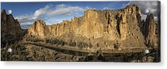 Smith Rock And Crooked River Panorama Acrylic Print