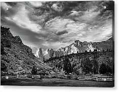 Smith Rock Bw Acrylic Print