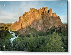 Smith Rock First Light Acrylic Print by Greg Nyquist