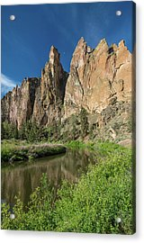 Acrylic Print featuring the photograph Smith Rock Spires by Greg Nyquist