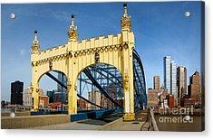 Smithfield Street Bridge Pittsburgh Pennsylvania Acrylic Print