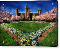 Spring Blooms In The Smithsonian Castle Garden Acrylic Print