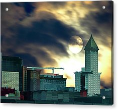 Acrylic Print featuring the photograph Smithtower Moon by Dale Stillman