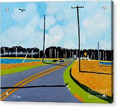 Smithville Boat Ramp Acrylic Print by Lesley Giles