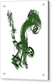 Smoke 01 - Green Acrylic Print