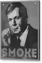 Smoke Funny Obama Hope Parody Smoking Man Acrylic Print by Philipp Rietz
