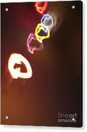 Acrylic Print featuring the photograph Smoke In Colors by Ausra Huntington nee Paulauskaite