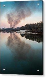 Smoke On The Water. Horytsya, 2014. Acrylic Print
