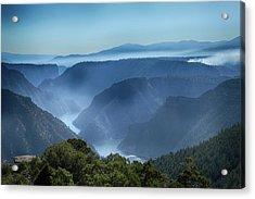 Smoke Over Flaming Gorge Acrylic Print