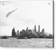 Smoke Screen Over New York Acrylic Print