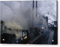 Smoke Spews From The Coke-production Acrylic Print by James L Stanfield