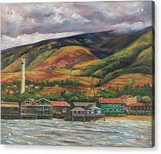 Acrylic Print featuring the painting Smokestack Lahaina Maui by Darice Machel McGuire