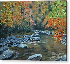 Smokey Mountain Autumn Acrylic Print