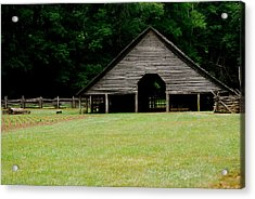 Smokey Mountain Barn Acrylic Print by Kimberly Camacho