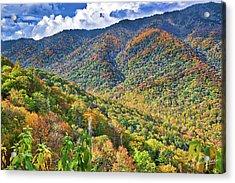 Acrylic Print featuring the photograph Smoky Mountain Glory by David A Lane