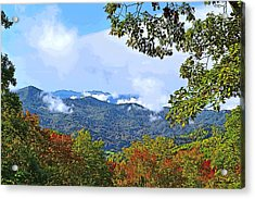 Smokey Mountain Mountain Landscape - A Acrylic Print