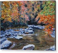 Smokey Mountains Autumn Acrylic Print by Stanton D Allaben