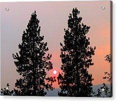 Smokey Okanagan Sunset Acrylic Print by Will Borden