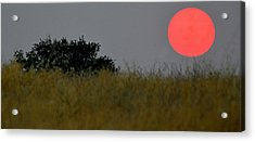 Acrylic Print featuring the photograph Smokey Sunset by AJ Schibig