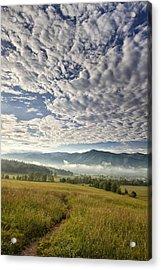 Smokies Cloudscape Acrylic Print by Andrew Soundarajan