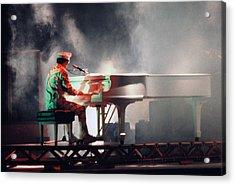 Smokin' Elton Acrylic Print by Scott Smith