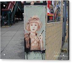 Smoking Girl  Acrylic Print