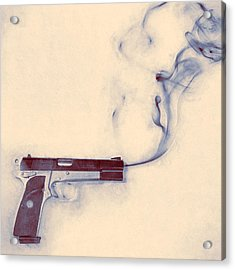 Smoking Gun Acrylic Print by Scott Norris