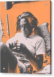 Smoking Hard Coke Acrylic Print by John Toxey