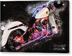 Smoking Hot Hog Harley Davidson 20161102 Acrylic Print by Wingsdomain Art and Photography