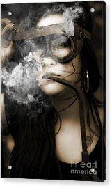Smoking Hot Industrial Worker Acrylic Print