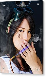 Smoking Hot Mechanic Acrylic Print