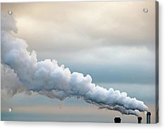 Smoking In The Clouds Acrylic Print by Jane Kerrigan