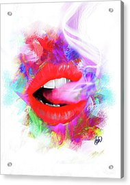 Smoking Lips Acrylic Print