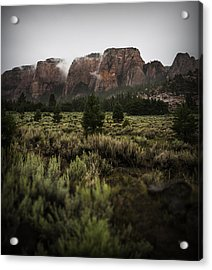 Smoking Mountains Acrylic Print