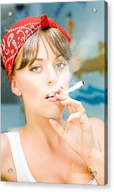 Smoking Acrylic Print by Jorgo Photography - Wall Art Gallery