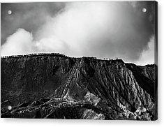 Acrylic Print featuring the photograph Smoking Volcano by Pradeep Raja Prints
