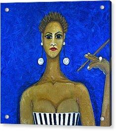 Smoking Woman 2 Acrylic Print