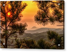 Acrylic Print featuring the photograph Smoky Black Hills Sunrise by Fiskr Larsen