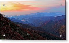 Dawn From Standing Indian Mountain Acrylic Print