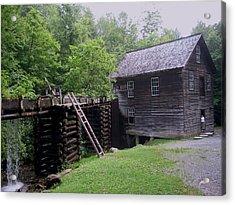 Smoky Mountain Mill Acrylic Print by CGHepburn Scenic Photos