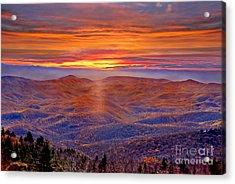 Smoky Mountain Sunrise Acrylic Print by Jeff McJunkin