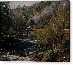 Smoky Mountains Rail Road Acrylic Print by Joseph G Holland