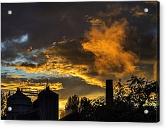 Acrylic Print featuring the photograph Smoky Sunset by Jeremy Lavender Photography