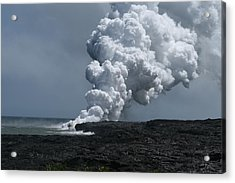 Smoldering Lava Acrylic Print by Andrei Fried