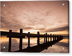 Smooth Bay Acrylic Print by Kristopher Schoenleber