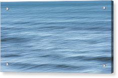 Smooth Blue Abstract Acrylic Print by Terry DeLuco