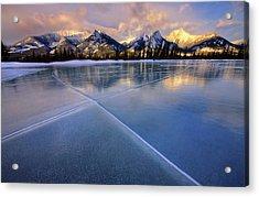 Smooth Ice Acrylic Print by Dan Jurak