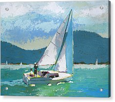 Smooth Sailing Acrylic Print by Robert Bissett