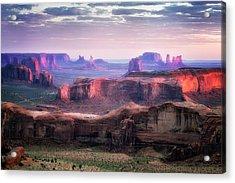 Smooth Sunset Acrylic Print