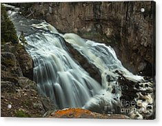 Smooth Water Of Gibbon Falls Acrylic Print by Robert Bales